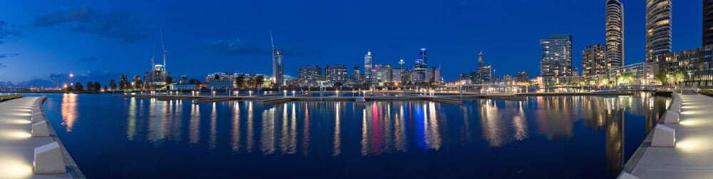 melbourne docks panorama